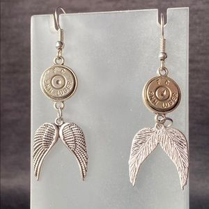 9mm Angel Wing Earrings